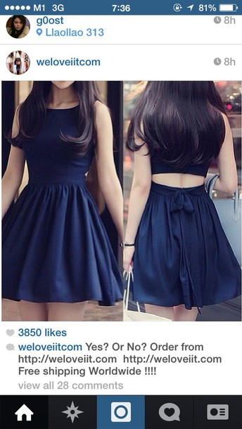dress dark blue dress