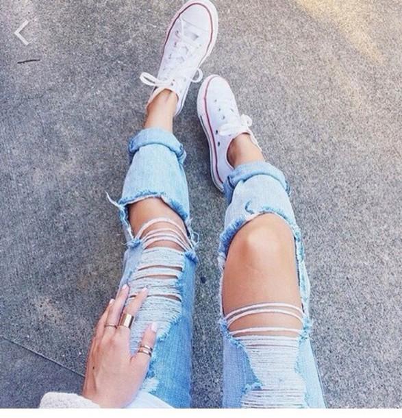 Jeans boyfriend jeans boyish ripped jeans ripped fashion style 2014 trendy trendy ...