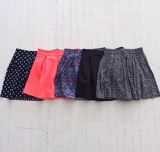 skirt pink pattern blue floral black polk a dot high waisted floral skirt summer aztec cute spring all