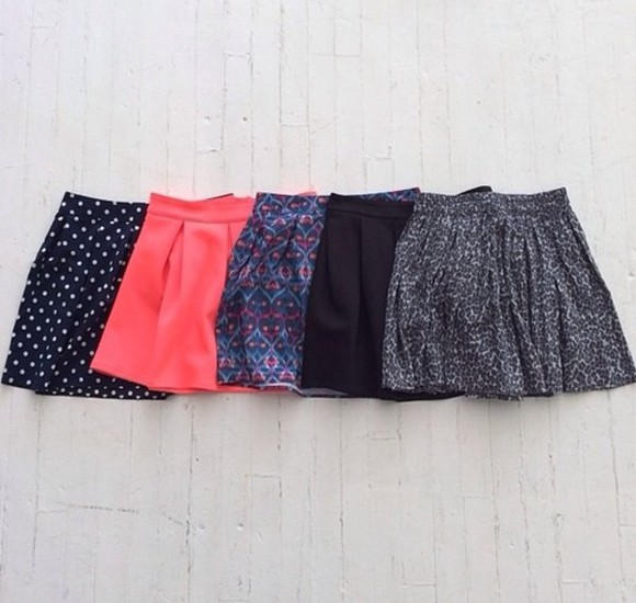 skirt summer highwaisted shorts pattern floral skirts floral skirts black pink blue polk a dot