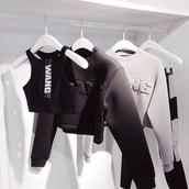 alexander wang,top,grey sweater,health goth,black sweatshirt,sweatshirt,crop tops,black crop top,cropped hoodie