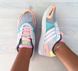 shoes adidas shoes adidas colourful bright colours good cool tumblr