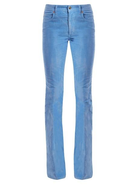 gucci cotton blue pants