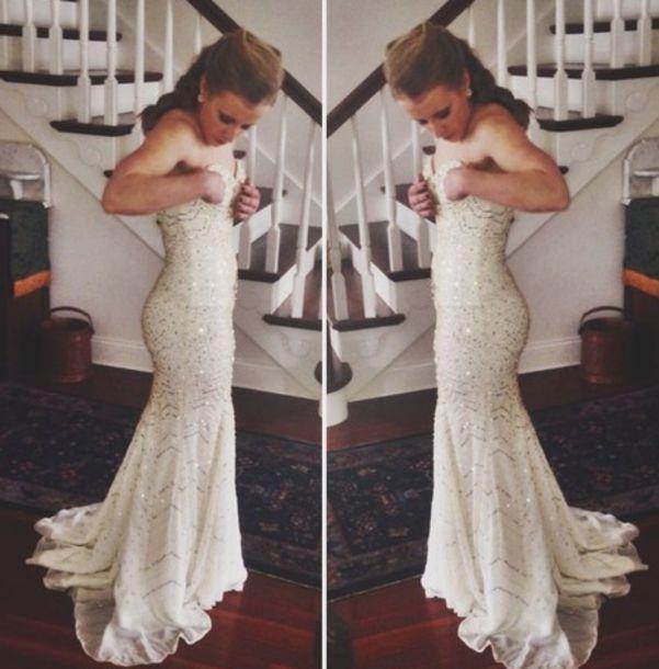 dress prom gold boho prom boho prom dress prom dress white zig zag long prom dress sequins