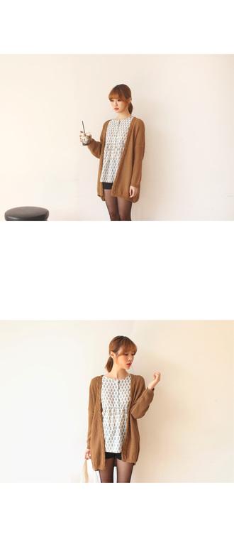 cardigan winter outfits korean fashion kpop girl winter sweater caramel korean style casual kfashion blouse
