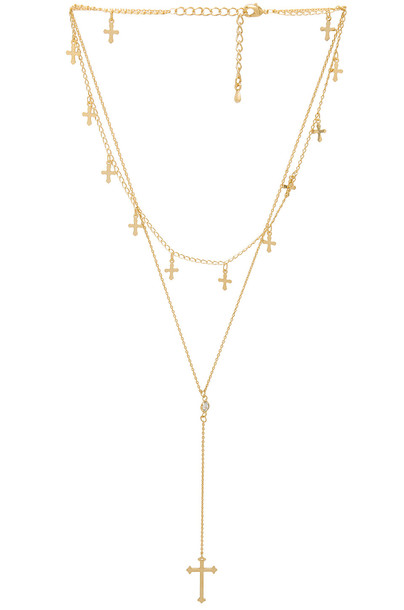 8 Other Reasons necklace metallic gold jewels