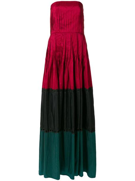 Sachin & Babi gown women silk red dress