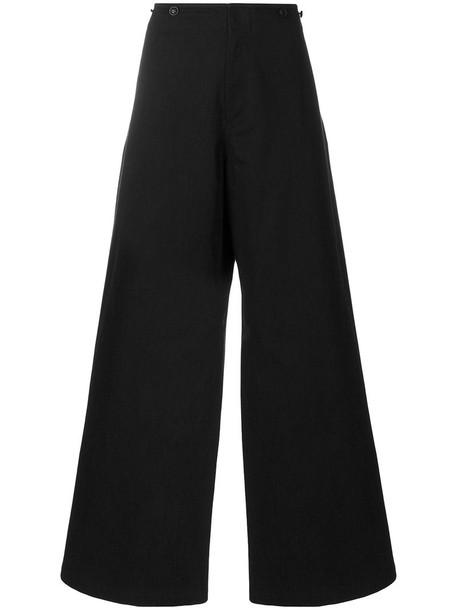 Y's women cotton black pants