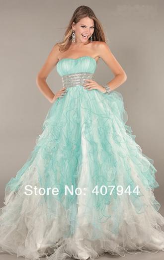 dress prom dress ball gown dress empire waist ombre prom dress cute