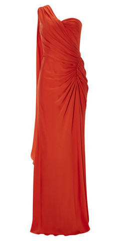 AMANDA WAKELEY - Papaya Draped Gown hire at Girl Meets Dress Cocktail Dress, Designer Dresses and Prom Dresses rental