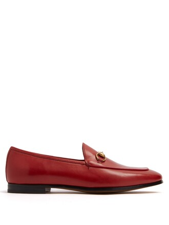 loafers leather red shoes