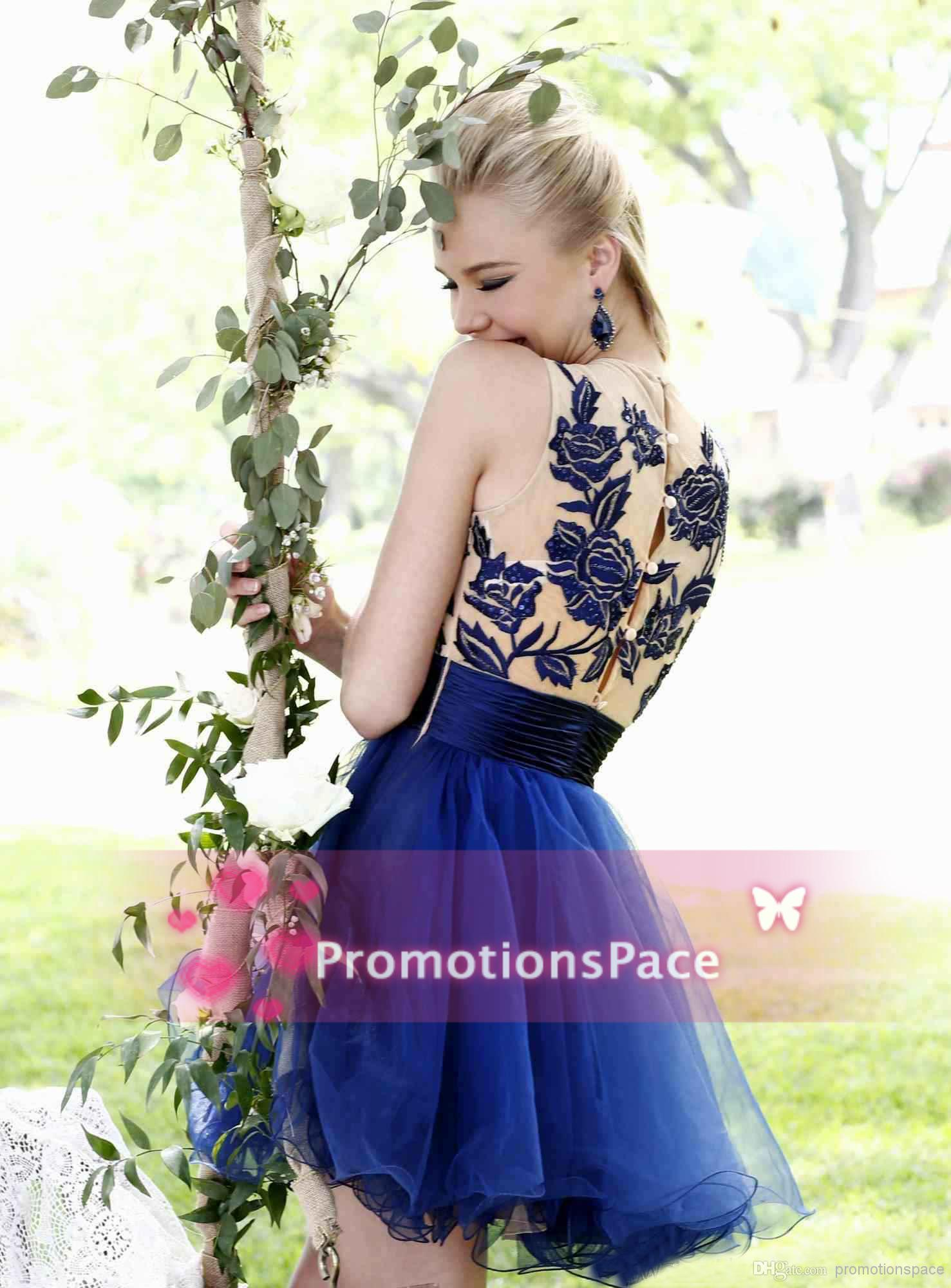 Cheap 2014 Homecoming Dresses - Discount 2014 Cheap Little Black Dresses Crew Neckline Applique Sash Ruffles Pleats Sleeveless Zipper Tulle Tarik Ediz Homecoming Dresses Cps085 Online with $64.5/Piece | DHgate