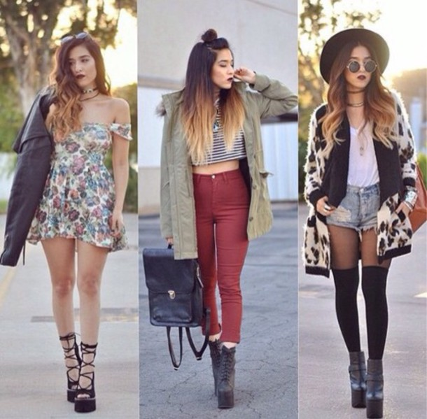 dress shoes jacket t-shirt jeans hat cardigan shorts tights