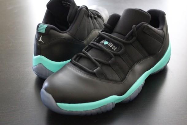 shoes tiffany&co blue jordans black