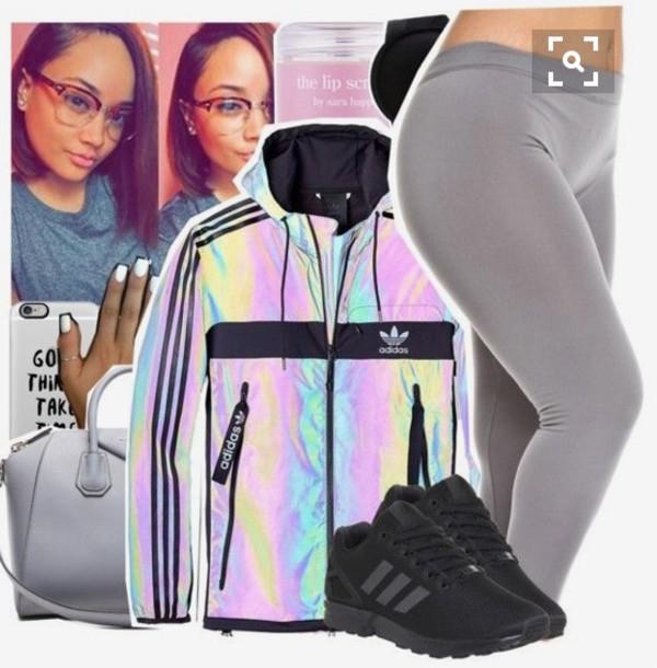 low priced 13c33 eb8b2 jacket adidas holographic adidas jacket iridescent holographic jacket