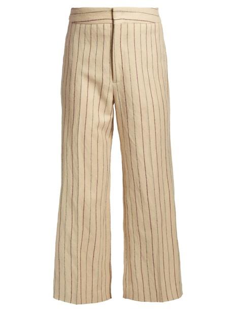 Isabel Marant cropped cream pants