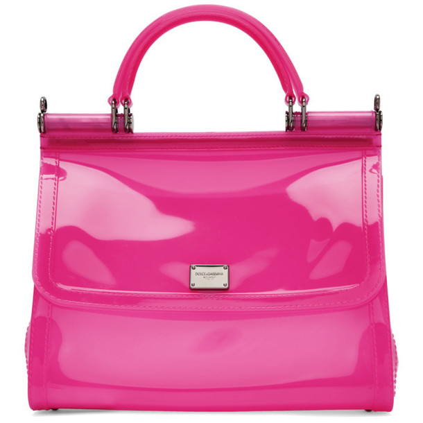 Dolce and Gabbana Dolce & Gabbana Pink Small Rubber Miss Sicily Bag