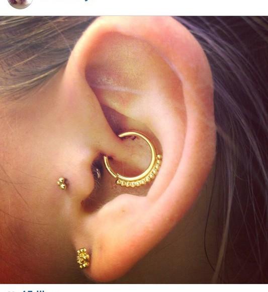 jewels piercing ring piercing rings earrings hoop earring gold earring