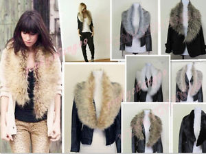 Trendy Faux Fur Collar Scarf Shawl Wrap | eBay