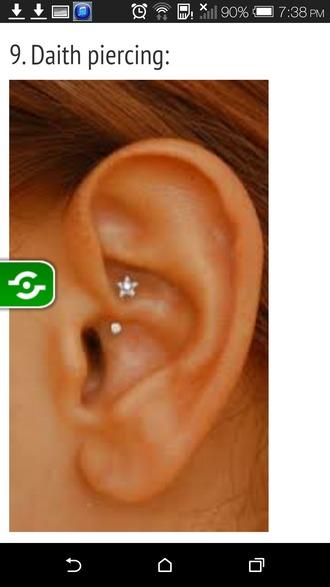 hair accessories piercing jewels earings piercings earpiercing earrings daith piercing daith jewelry