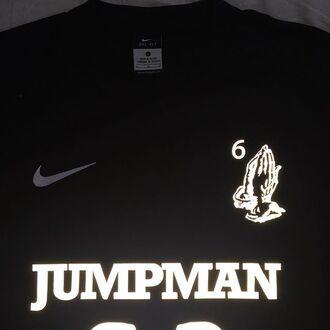 sweater nike shirt black drake jumpman clothes jersey