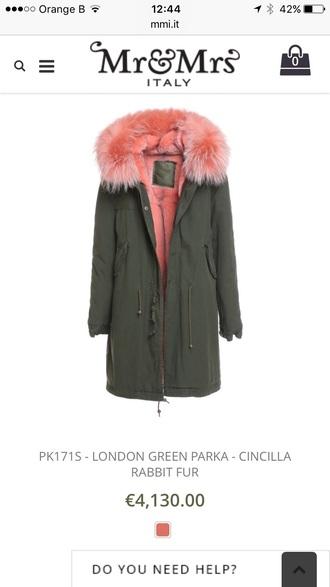 coat fur army green jacket fur coat pink fury long trench coat