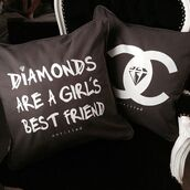 pillow,diamonds,luxury,black,bedding,quote on it,quote on it pillow,home accessory
