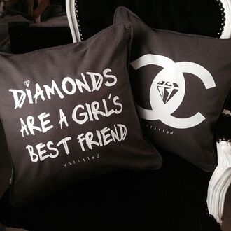 pillow diamonds luxury black bedding quote on it quote on it pillow home accessory