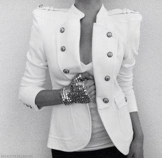 jacket love it white jacket white on white cardigan strong