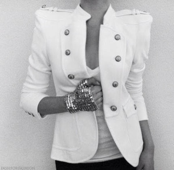 jacket white jacket white on white cardigan strong