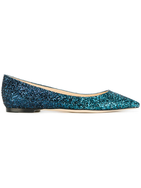 Jimmy Choo women leather blue shoes