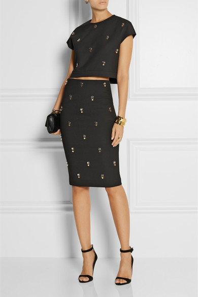 Colton embellished cropped stretch