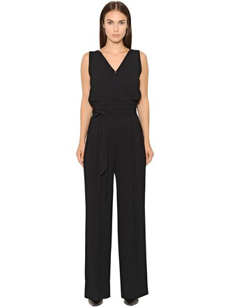 jumpsuit draped black