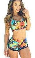 Hezong Women Bandage Bikini Set Swimsuit Swimwear Bathing Suit at Amazon Women's Clothing store: