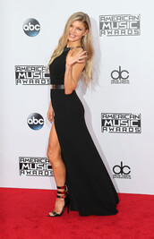 American Music Awards,dress,shoes,sandals,high heels,fergie,gown,prom dress