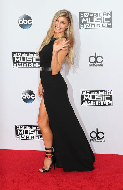 85777056546 American Music Awards dress shoes sandals high heels fergie gown prom dress