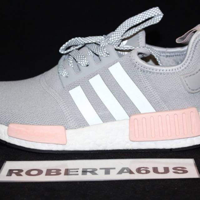 timeless design a8a02 85e67 Adidas NMD Runner R1 W BY3058 Clear Light Onix Vapor Pink Gray Women's