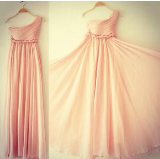 Dress Pastel Pink Pastel Dress Formal Dress Pink Formal Dress