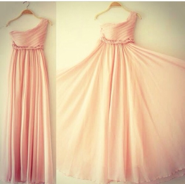 dress pastel pink pastel dress formal dress pink formal dress pink prom dress long prom dress long dress one shoulder dresses