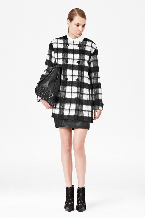 Checked Bunny Coat - Coats & Jackets - French Connection Usa