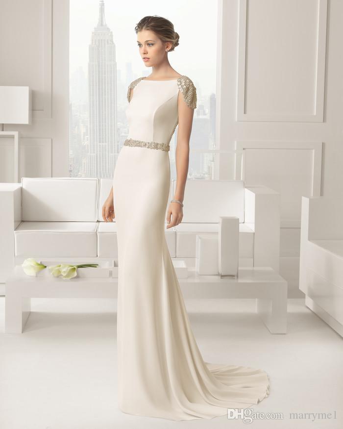 Vestido novia corto encaje