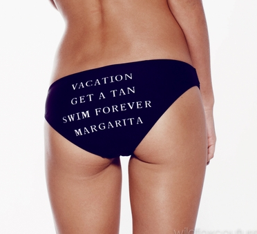 WILDFOX - VACATION HIPSTER BOTTOMS - BLACK - L  SWIMWEAR & BEACHWEAR  CATEGORIES