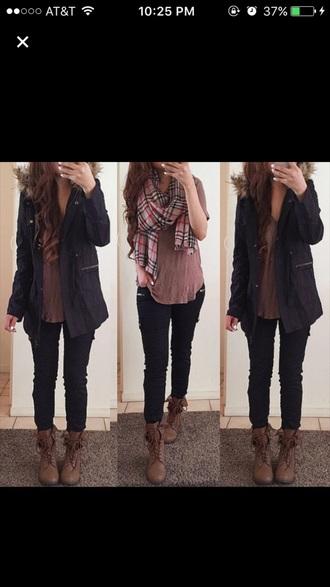 scarf all shirt jacket