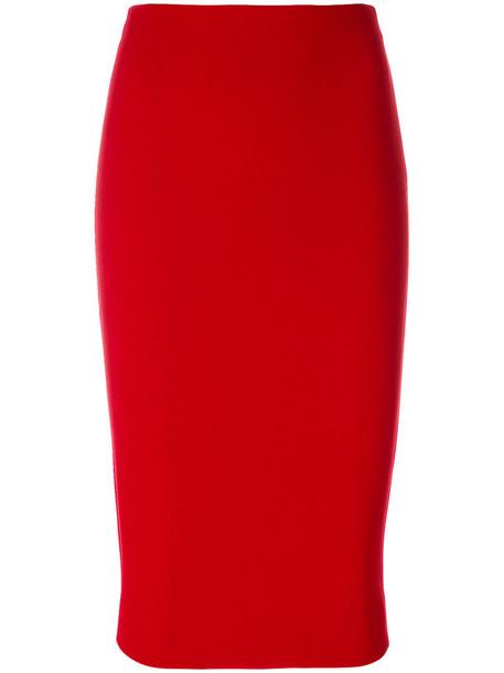 Victoria Beckham skirt zip women red
