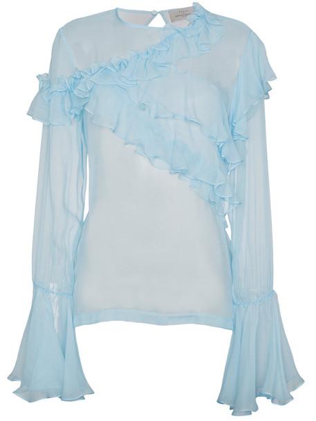 PREEN BY THORNTON BREGAZZI blouse women blue silk top