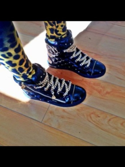 rhinestone shoes black giuseppe zanotti sneaker golds
