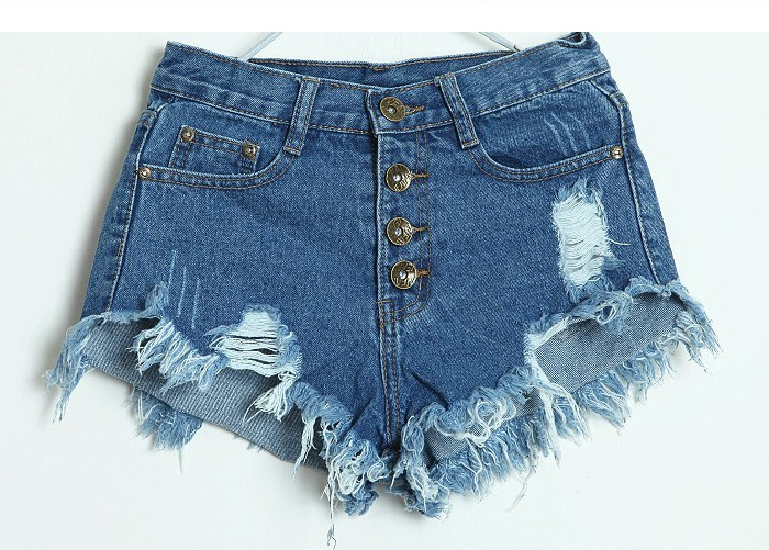 Distressed denim shorts · fashion struck · online store powered by storenvy