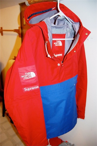 coat north face supreme red winter sports mens coat windbreaker