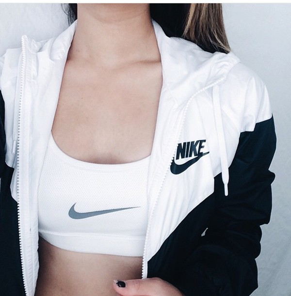 jacket nike outlet clothes tumblr black white coat black and white nike windbreaker windbreaker