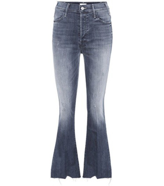 Mother Button Fly Hustler Ankle jeans in blue